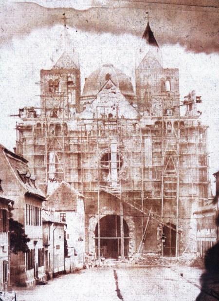 La reconstruction de façade occidentale du Kaiserdom de Spire en 1857