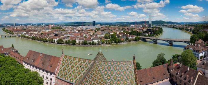 Basel - Panorama de la cathédrale © Von Wladyslaw Sojka - Eigenes Werk, FAL