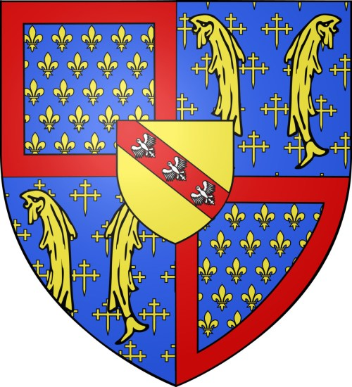 Blason de René d'Anjour © Odejea - licence [CC BY-SA 3.0] from Wikimedia Commons