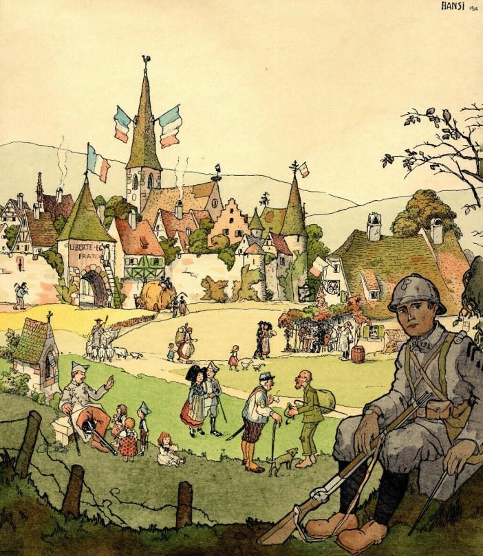 France d'antan - Vue de Turckheim par Hansi