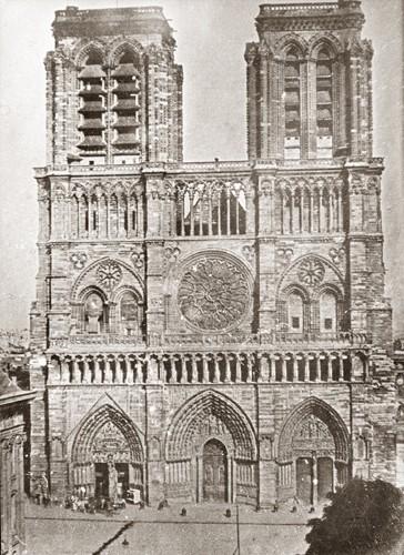 La façade en 1840, avant les travaux de Viollet-le-Duc
