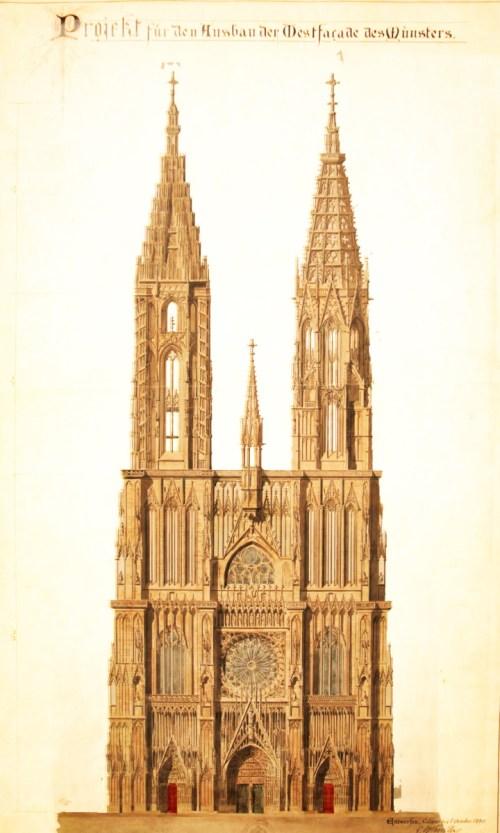 Cathédrale de Strasbourg projet de Charles Winkler © Fondation de l'œuvre Notre-Dame - licence [CC BY-SA 4.0] from Wikimedia Commons