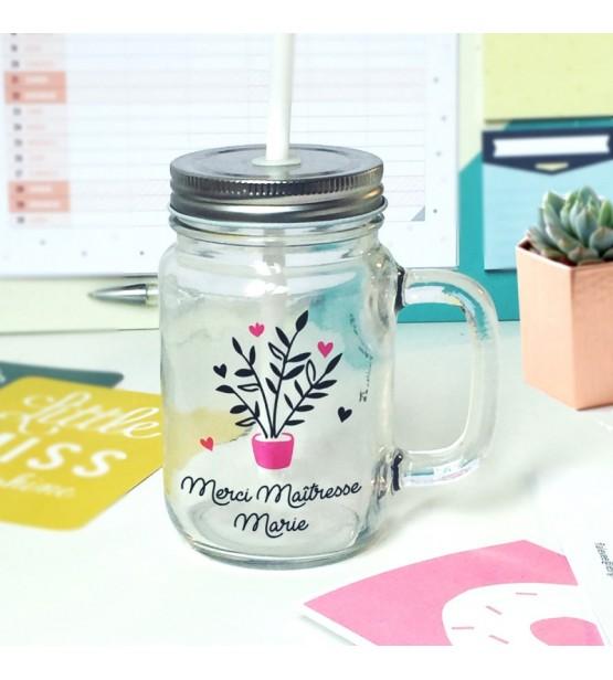 mug vintage merci maitresse nounou personnalisable