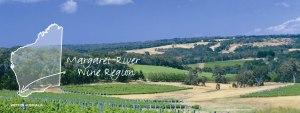 photo et plan de la région viticole margaret river en australie