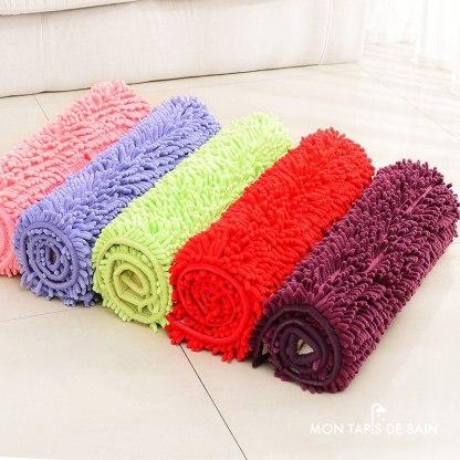 tapis de bain antiderapant et chenille