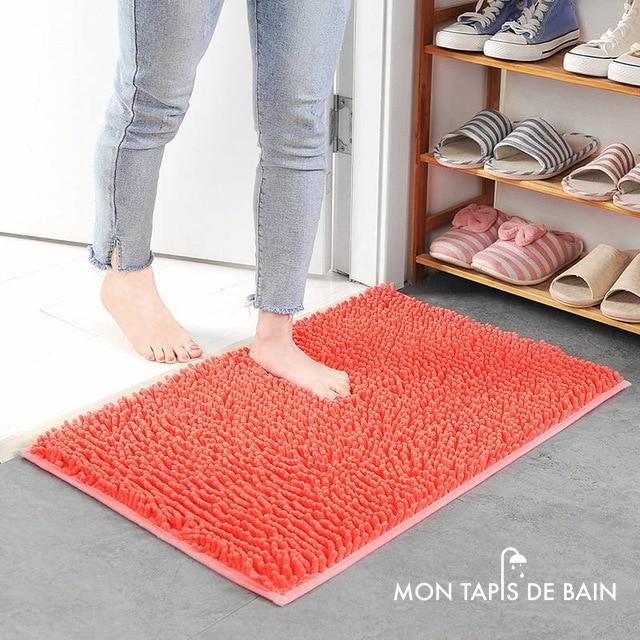 tapis salle de bain chenille grand format