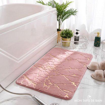 tapis de bain original en fourrure