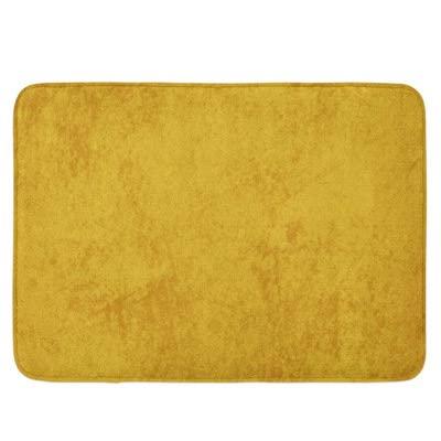 tapis de bain jaune moutarde