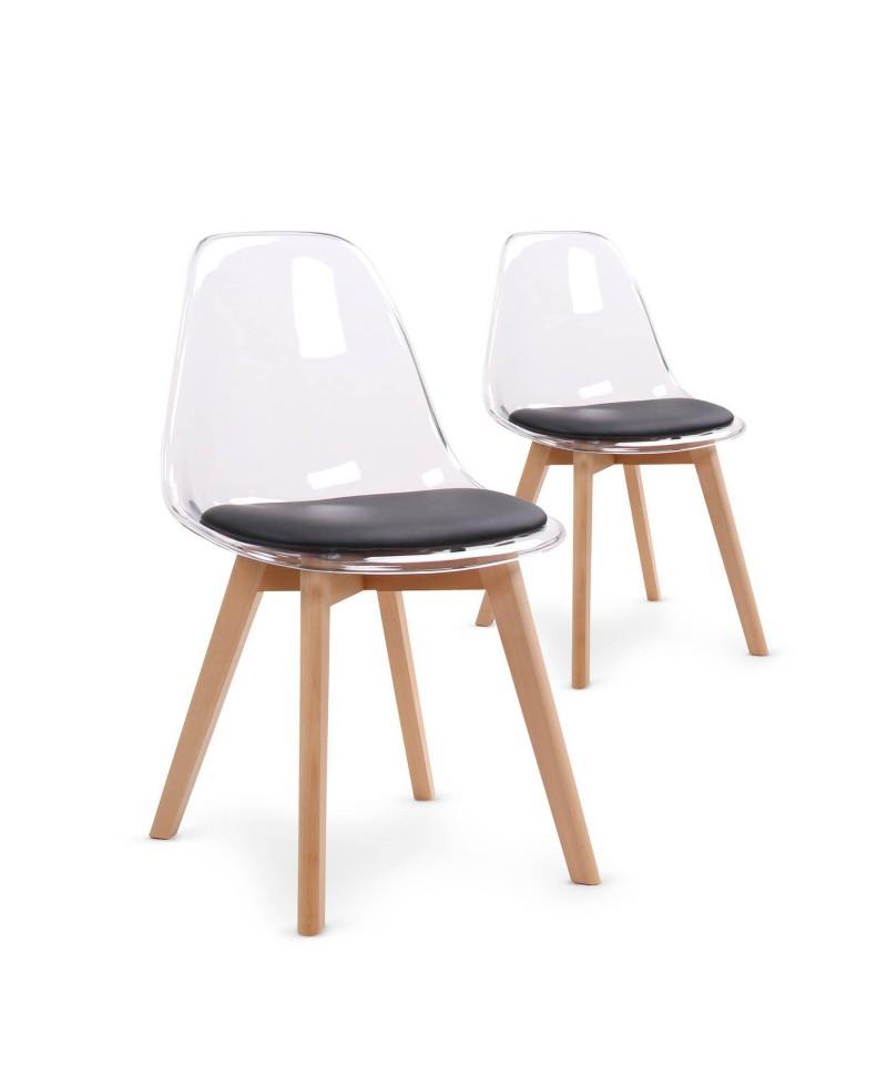 fjord chaise scandinave plexi noir monachatdeco com