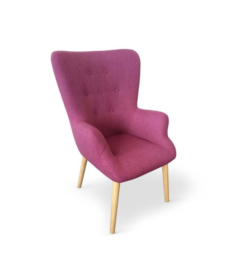 noe fauteuil scandinave rose cerise monachatdeco com