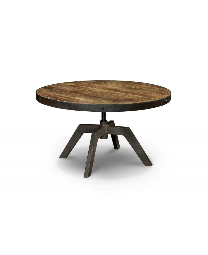 arizona table basse ronde bois metal monachatdeco com