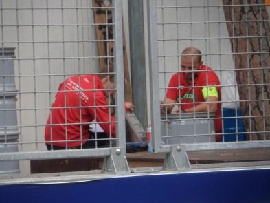 Tecnici al lavoro il giorno prima del Campionato di Formula E di Monaco 2017