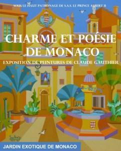 Claude Gauthier: la locandina della mostra Charme et Poésie de Monaco
