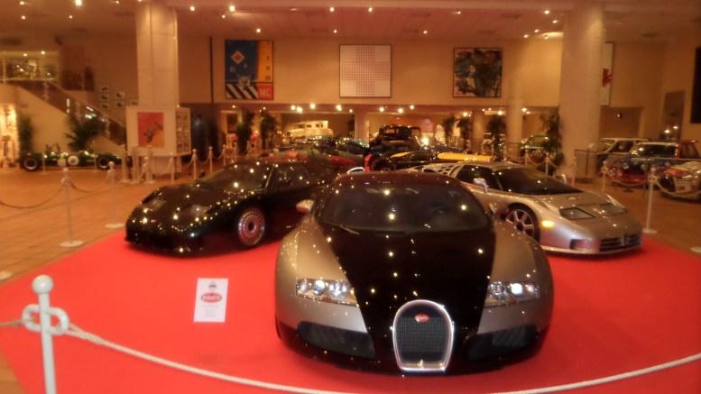 Alcune Bugatti in mostra nel Principato di Monaco