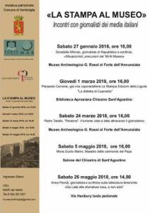 Ventimiglia: la locandina della Stampa Al Museo Seconda Edizione