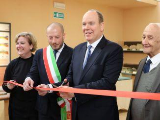 Il Principe Alberto di Monaco taglia il nastro in occasione dell'inaugurazione del nuovo allestimento del Museo dei Balzi Rossi Ft. per Concessione del Polo Museale Della Liguria
