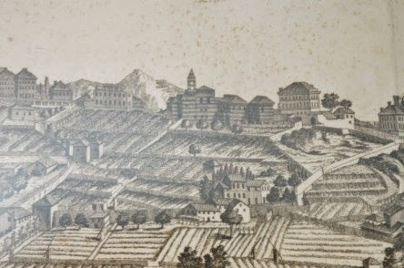 La collina di Albaro, Antonio Giolfi 1769 Museo Galata di Genova