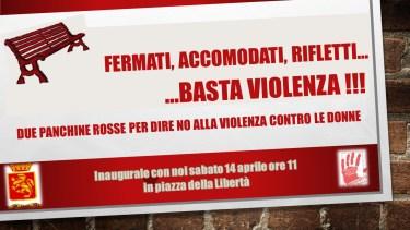 Ventimiglia: Inaugurazione delle Panchine Rosse Contro la Violenza sulle Donne