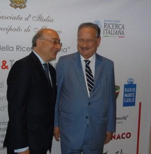 Monte Carlo - Giornata sulla ricerca italiana nel mondo: l'Ambasciatore d'Italia Cristiano Gallo con Daniel Boeri del Consiglio Nazionale (il Parlamento) di Monaco. Ft©arvalens