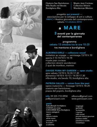 A MARE: 3 Eventi d'Arte Contemporanea tra il Museo Jean Cocteau di Mentone e Bordighera
