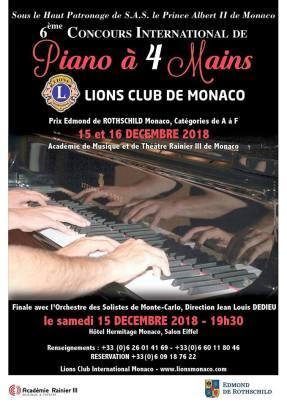 Concorso di Pianoforte a 4 Mani a Monte Carlo