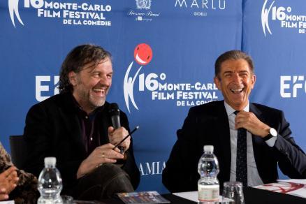 Sandra Milo e i Grandi Nomi del Cinema al Monte-Carlo Film Festival de la Comédie di Ezio Greggio