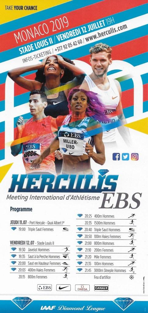 Presentazione a Monaco del Meeting di Atletica Herculis 2019