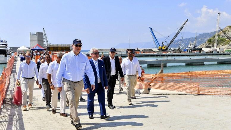 Alberto II Visita il Cantiere del Porto Turistico di Ventimiglia