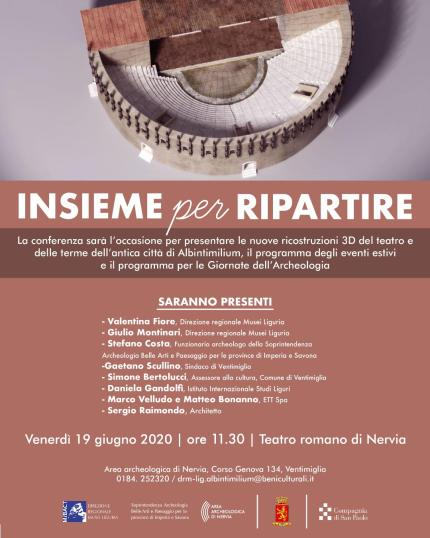 A Ventimiglia, l'Antica Albintimilium, Terme e Teatro Romano in 3D
