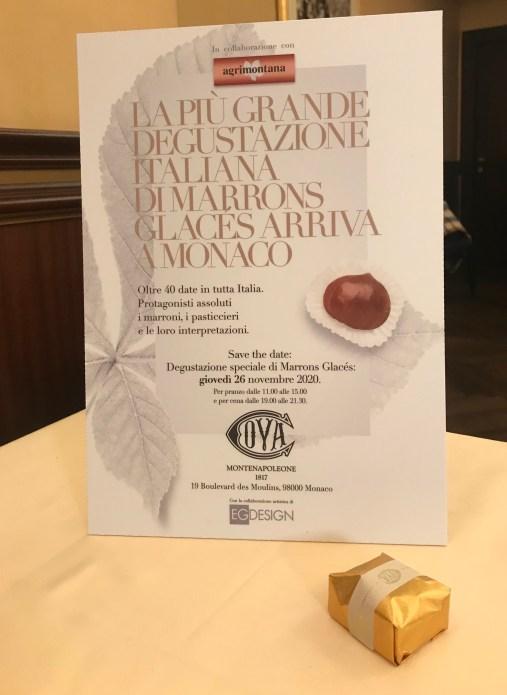 Degustazione Marrons Glacés Agrimontana a Monte Carlo