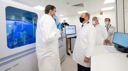 Laboratorio P3 Inaugurato dal Principe Alberto per i Tamponi PCR