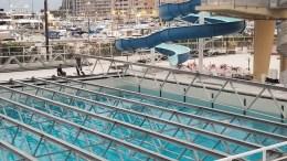 Pista di Pattinaggio sul Porto di Monaco, Lavori in Corso