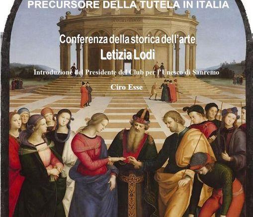 La Modernità di Raffaello nella Conferenza Online del Club per l'Unesco di Sanremo