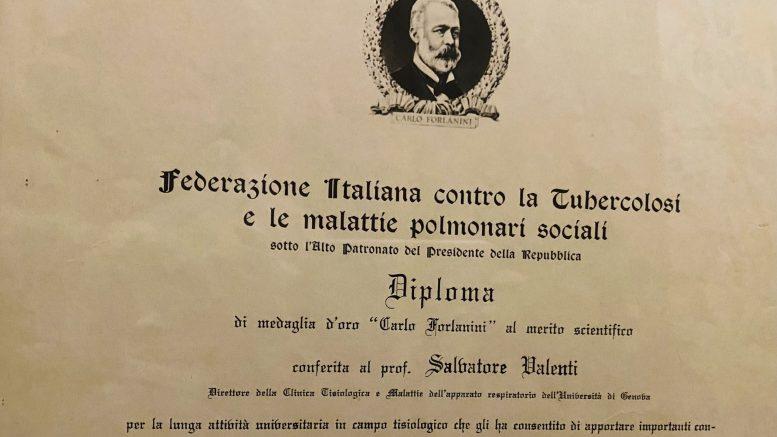 Federazione Italiana Contro La Tubercolosi Prof Salvatore Valenti