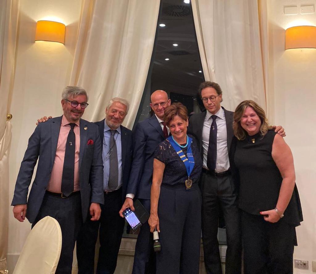 Il Rotary Cap-D'Ail Portes de Monaco al Passaggio delle Consegne del Rotary Genova Lanterna