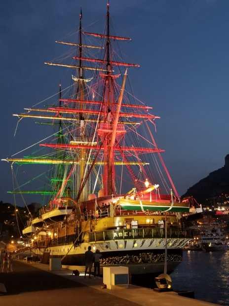 L'Amerigo Vespucci nel Porto di Monaco