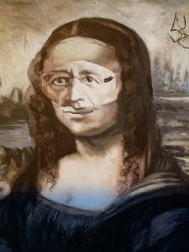 Poster of Hollande as La Gioconda