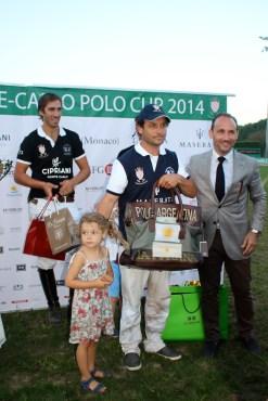 Lucas Labat received the La Martina prize @CelinaLafuenteDeLavotha2014