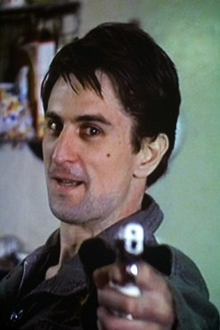 Through a Looking Glass by Douglas Gordon based on You're talkin' to me? Robert De Niro in Taxi Driver
