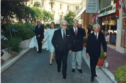 1998 Inauguration galerie 3 av . Hermitage[1] in the presence of HSH Prince Rainier III and HSH Prince Albert II @A.Ribolzi Gallery