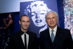 Erik Black (His painting of Marilyn Monroe in the back)and Adriano Ribolzi