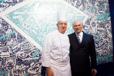 Chef Joel Garault and Adriano Ribolzi
