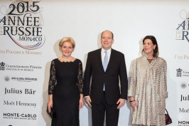 Mme Orlova, Prince Albert and Princess Carolina @E.Mathon, Prince's Palace