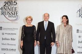 Mme Orlova, Prince Albert and Princess Carolina @E.Mathon, Prince's Palace