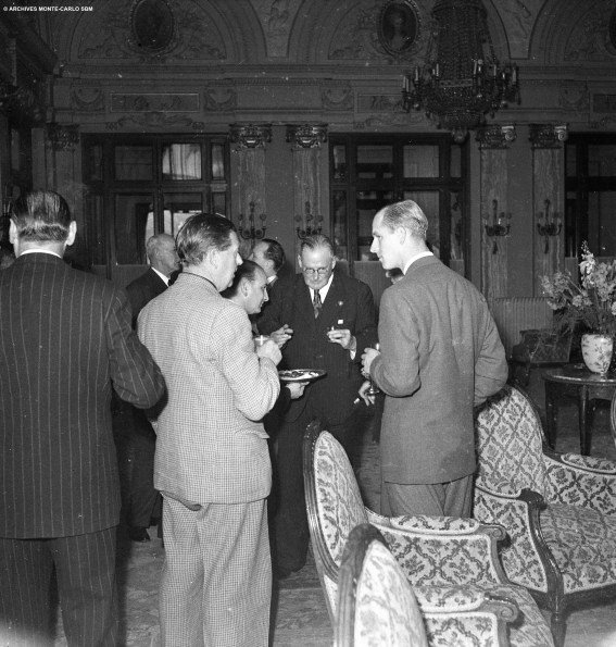 The Duke of Edinburg at a reception in the hotel in 1950 @Archives Society des Bains de Mer