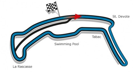 E-version of the Grand Prix circuit in Monaco