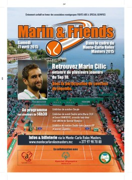 Marin & Friends charity event flyer