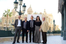 Member of the Jury Lee Marshall, Giovanni Veronesi, Ezio Gregg, Maria Grazia Cucinotta and Claude Zidi at the Hotel de Paris @CelinaLafuenteDeLavotha