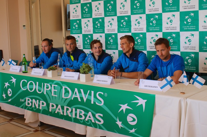 The Davis Cup Team from Finland at the Press Conference @CelinaLafuenteDeLavotha