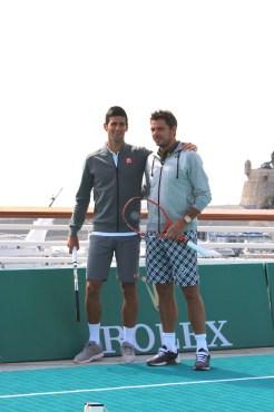 Novak Djokovic and Stan Wawrinka @CelinaLafuenteDeLavotah